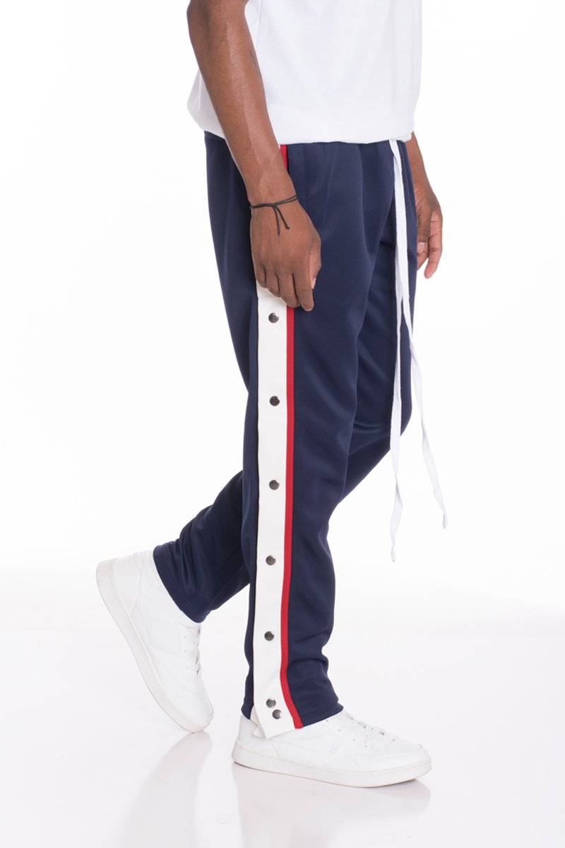 SNAP BUTTON TRACK SET- NAVY