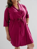 Recovery Robe with Drain Management plus Pocketed Bra- Magenta