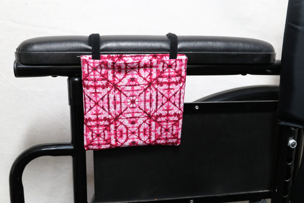 "Pink ""Stain Glass Window"" Patterned Cell Phone Holder for Wheelchair or Walker"