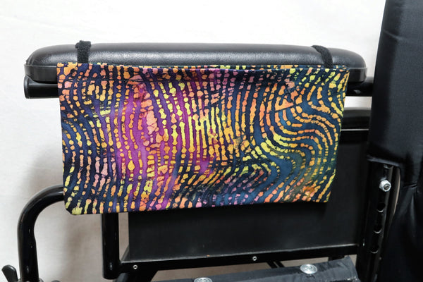 Neon Zebra Print,  Medium, Single Pocket Arm Rest Bag