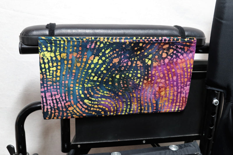 Neon Zebra Print Medium, Multiple Pocket Arm Rest Bag