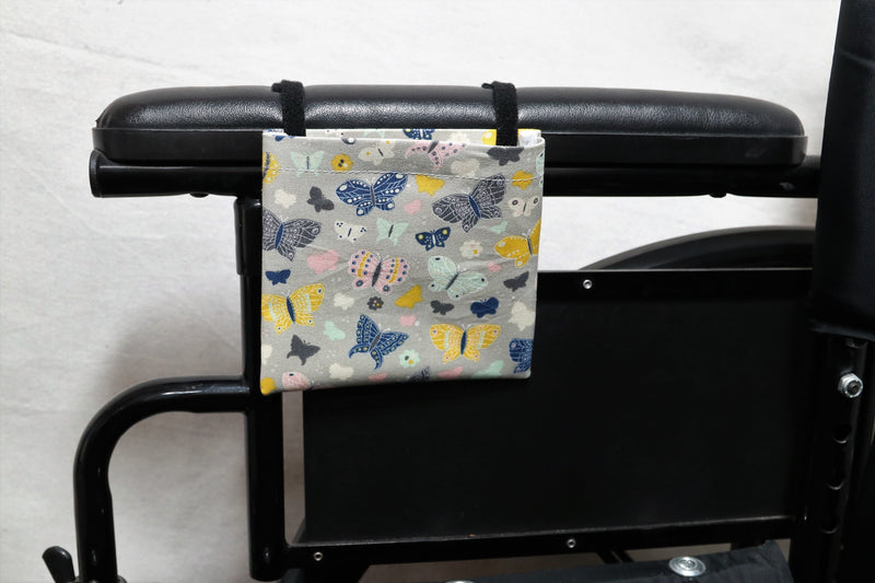 Butterflies Cell Phone Holder for Wheelchair Arm Rest