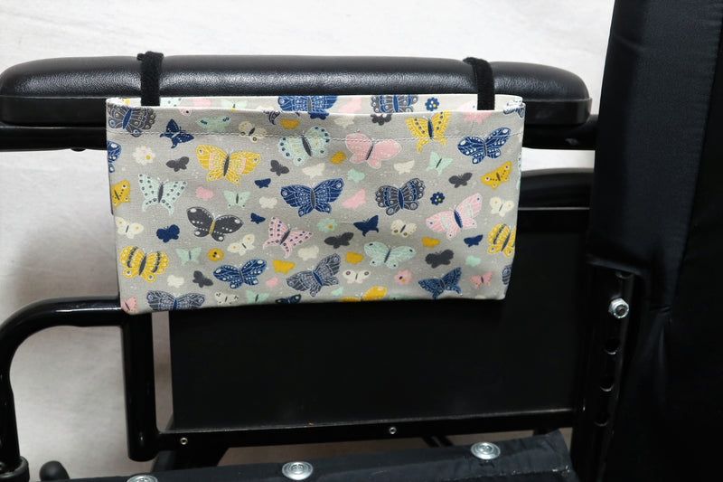 Butterflies Small, Single Pocket Wheelchair Arm Rest Bag