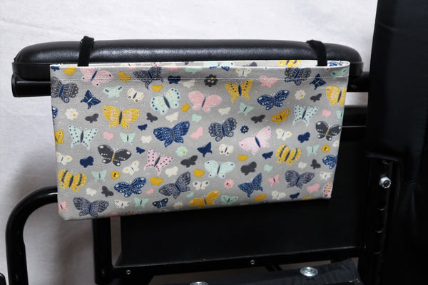 Butterflies Medium, Single Pocket Arm Rest Bag