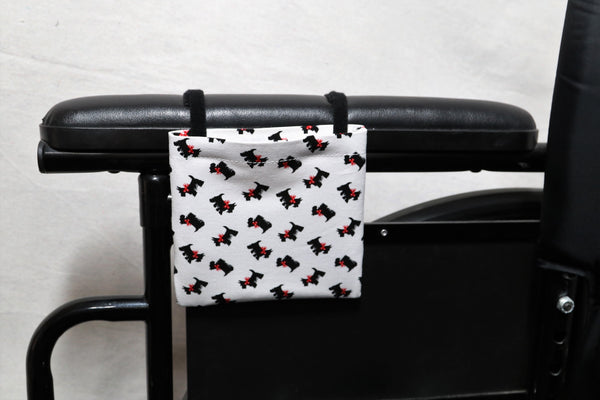 Scottish Terriers with Red Bows with Red Bow Cell Phone Holder for Wheelchair Arm Rest