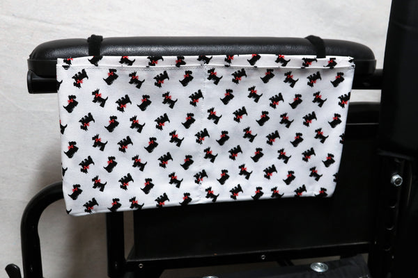 Scottish Terriers with Red Bows, Medium, Multiple Pocket Arm Rest Bag