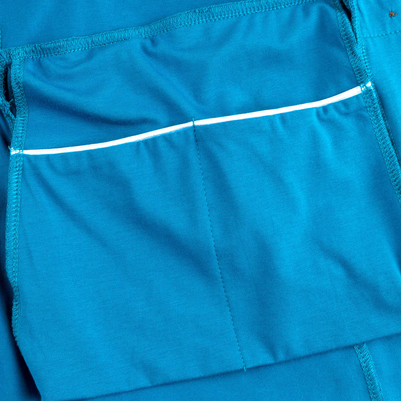 Surgery Recovery Robe with Drain Management plus Pocketed Bra- Blue