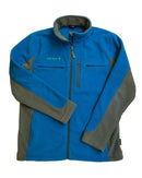 Men's Medically Accessible Polar Fleece Jacket - Blue