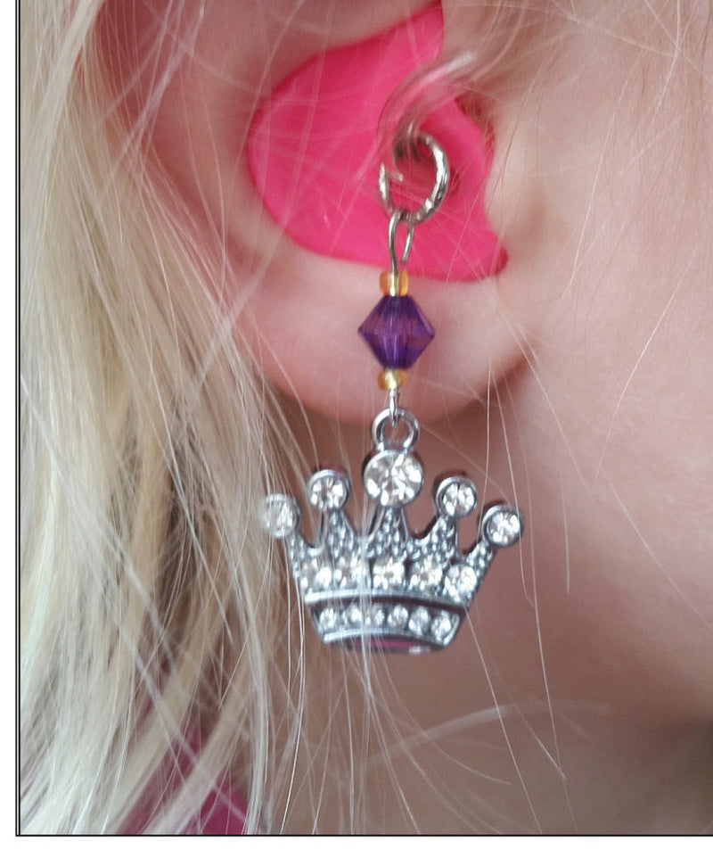 Flowers and Crown Hearing Aid Charm Set