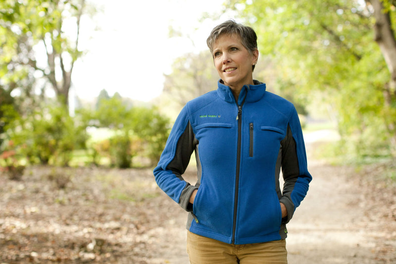 Women's Medically Accessible Polar Fleece Jacket - Blue