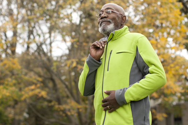 Men's Medically Accessible Polar Fleece Jacket - Green