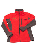 Women's Medically Accessible Polar Fleece Jacket - Red