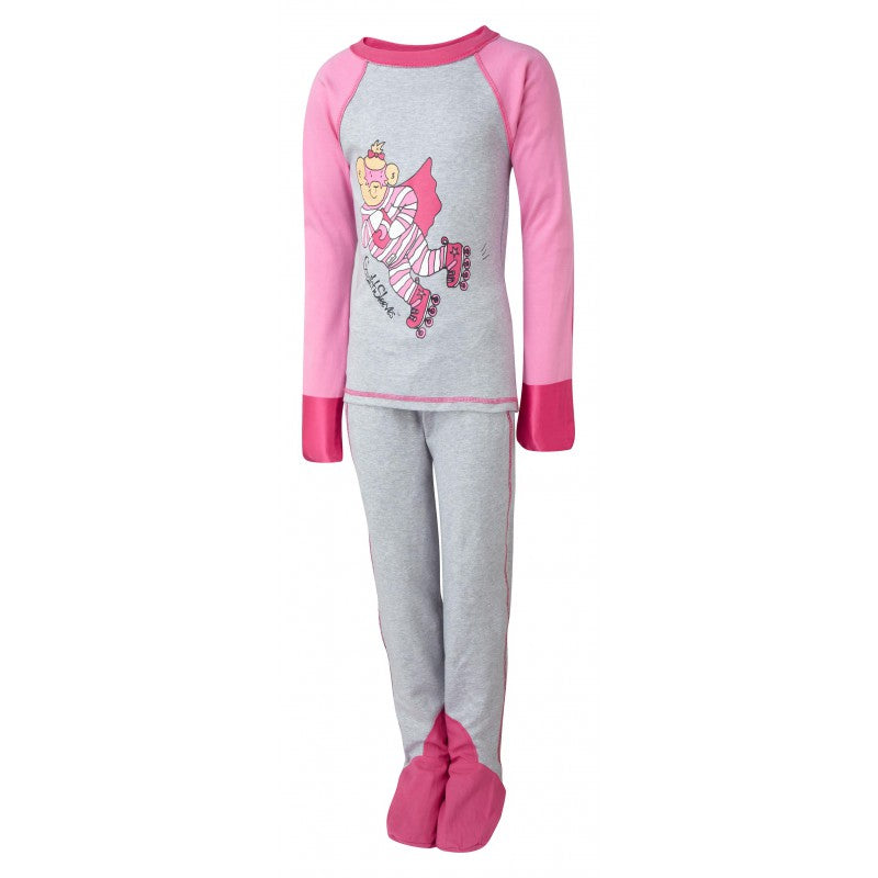 Pink Super Hero ScratchSleeves Pajama Set