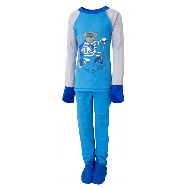 Blue Super Hero ScratchSleeves Pajama Set