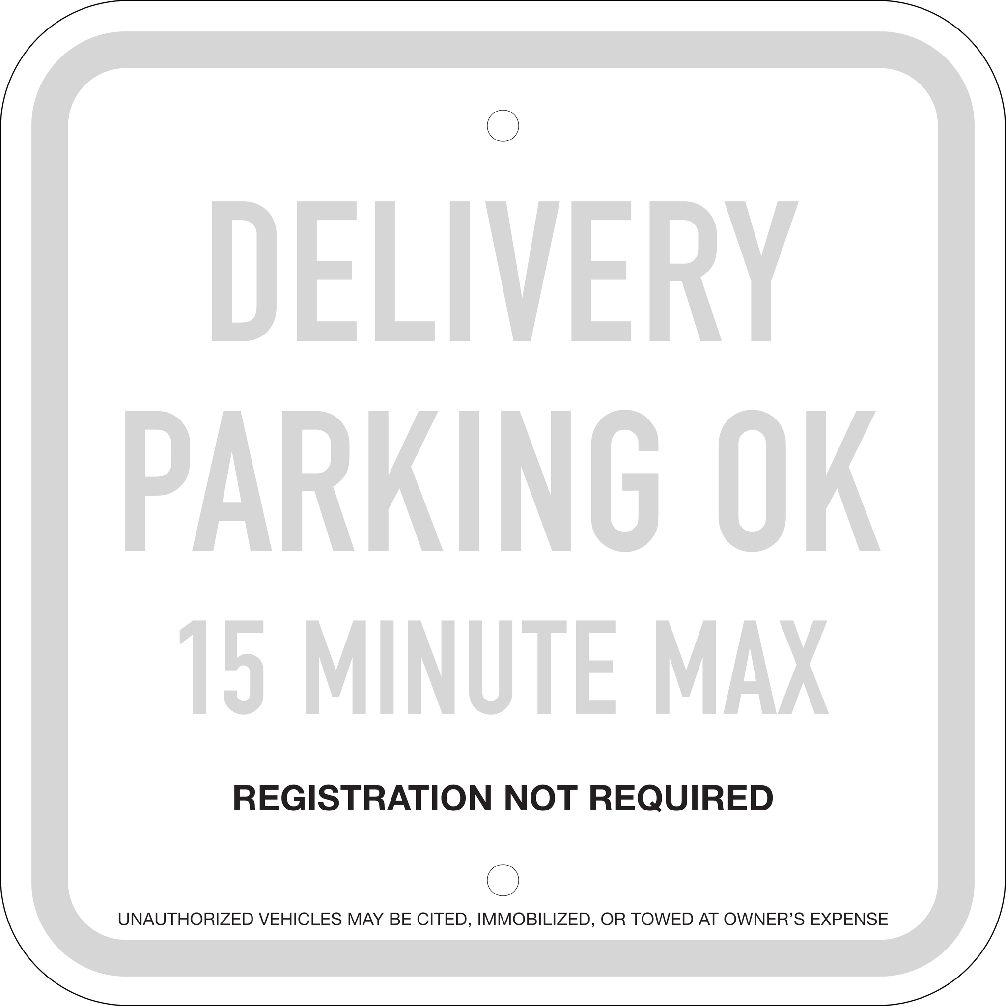 15 Minute Delivery Supplemental Sign: Option 2, 12x12