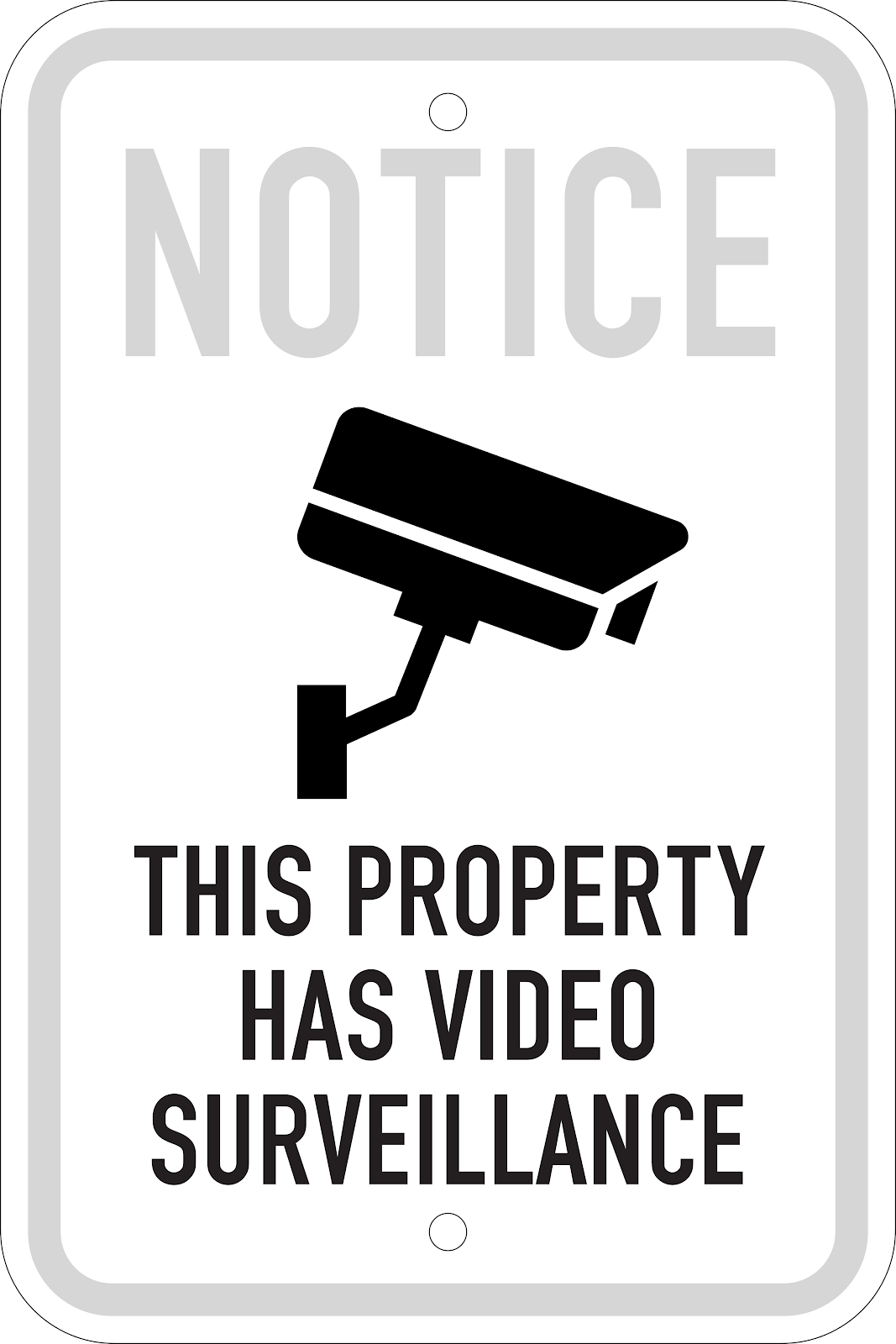 Video Security Notice Sign