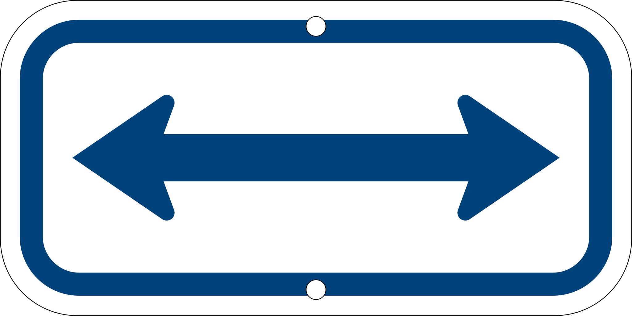 Center Arrow Sign