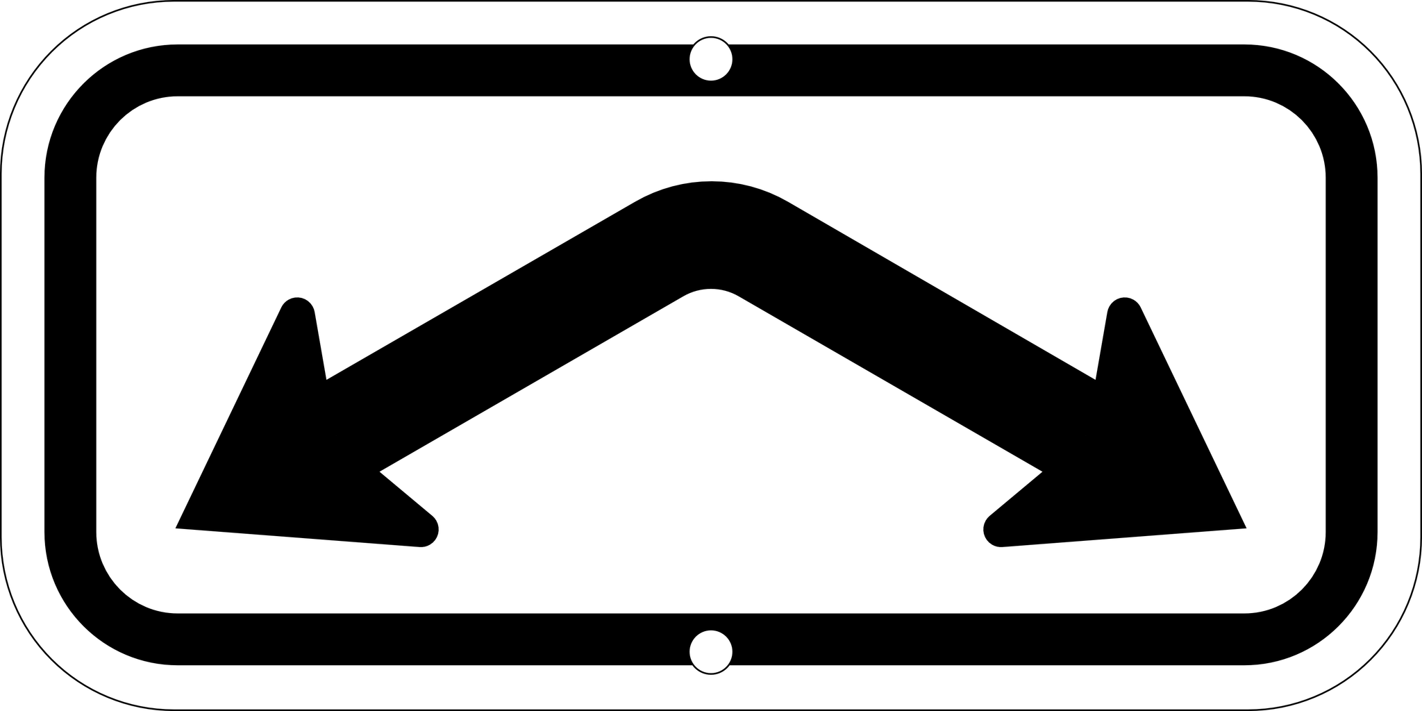 2-Space Arrow Sign, 12x6
