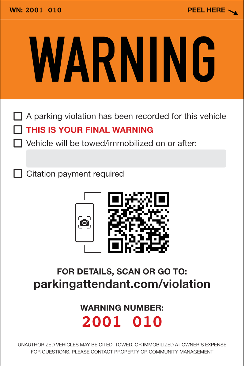 Patrol Violation Kit with 150 Smart Warning Stickers