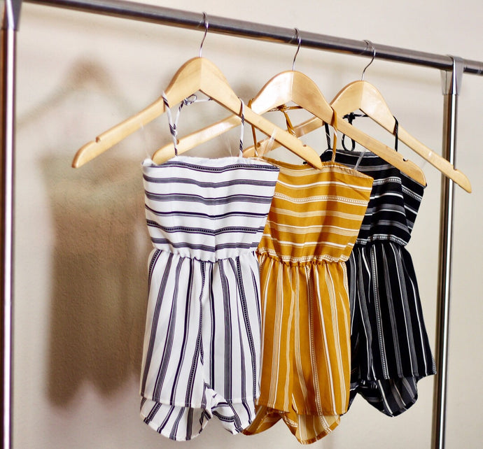 Ivy Stripped Rompers