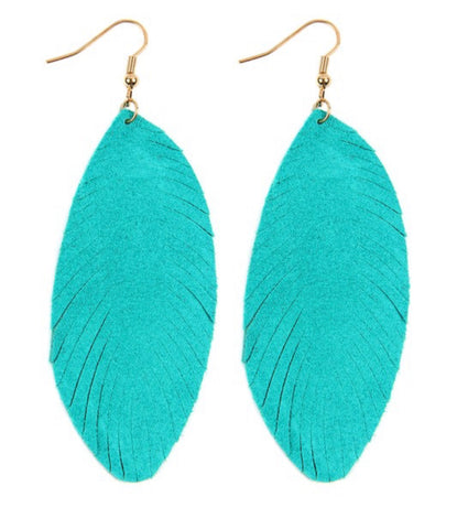 Fringe Leaf Earrings