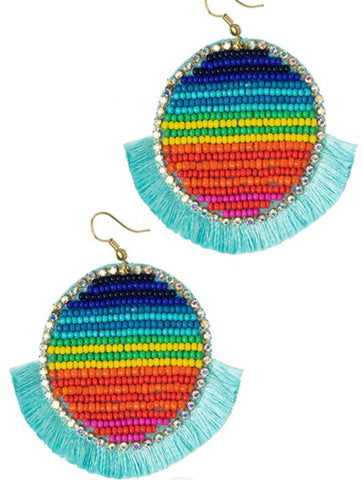 Beaded Serape Earrings