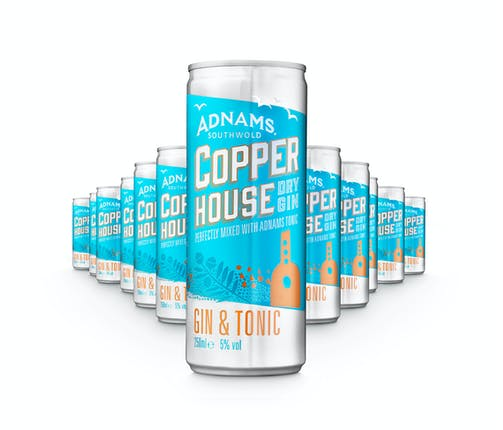 Adnams Gin & Tonic Cans 250ml x 12 Case - Cheapest Drinks Online
