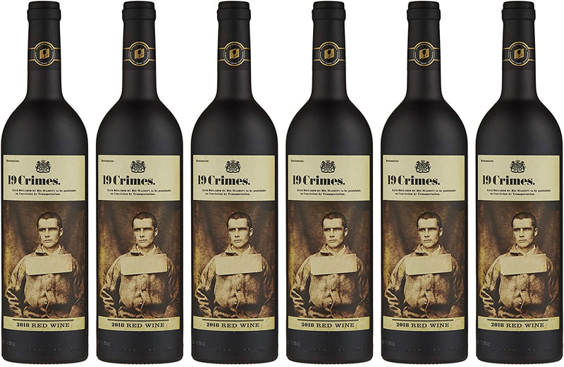 19 Crimes Red Wine 6 x 75cl Case - Cheapest Drinks Online