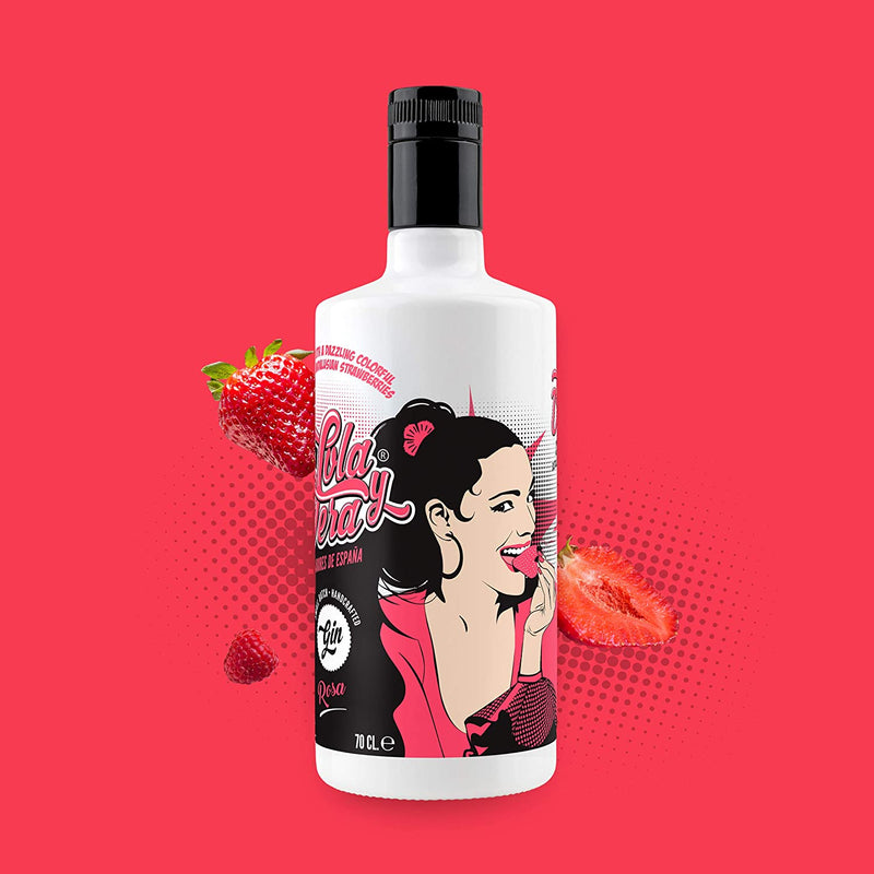 Lola & Vera Strawberry Gin 70cl - Cheapest Drinks Online