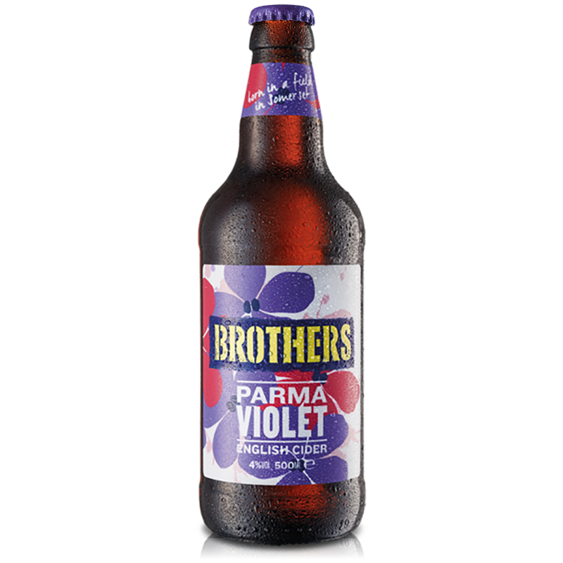 Brothers Parma Violet Cider 12 x 500ml case - Cheapest Drinks Online