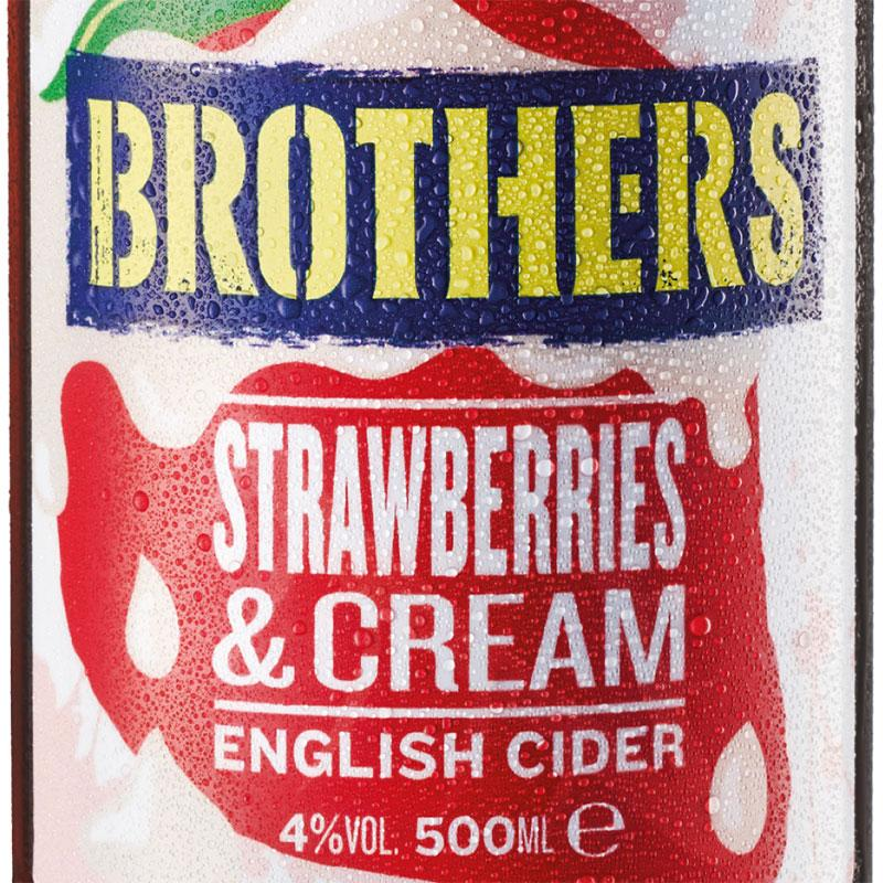 Brothers Strawberries & Cream Cider 12 x 500ml case - Cheapest Drinks Online