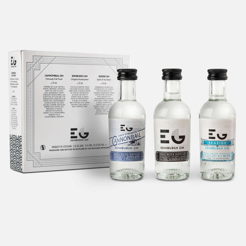 Edinburgh Gin Miniature Gift Pack 3 x 5cl - Shop Mini Kegs