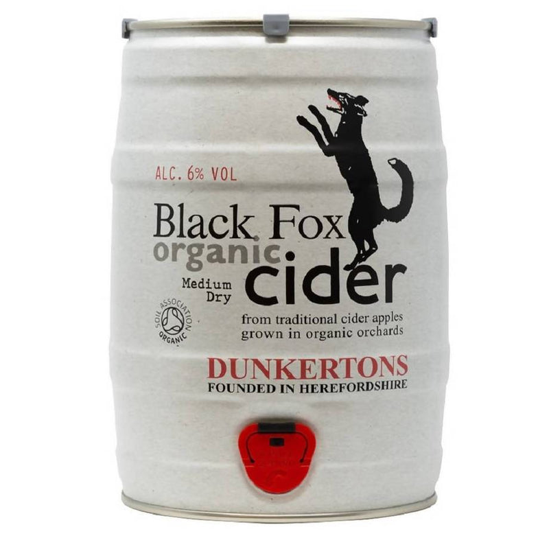 Dunkertons Organic Black Fox Cider 5L Mini Keg