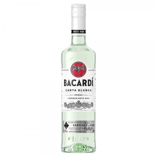 Bacardi Carta Blanca Rum 70cl - Cheapest Drinks Online