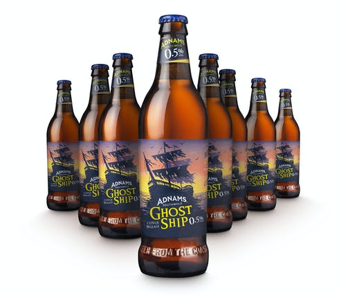 Adnams Ghost Ship Low 0.5%  Ale 500ml x 8 case - Cheapest Drinks Online