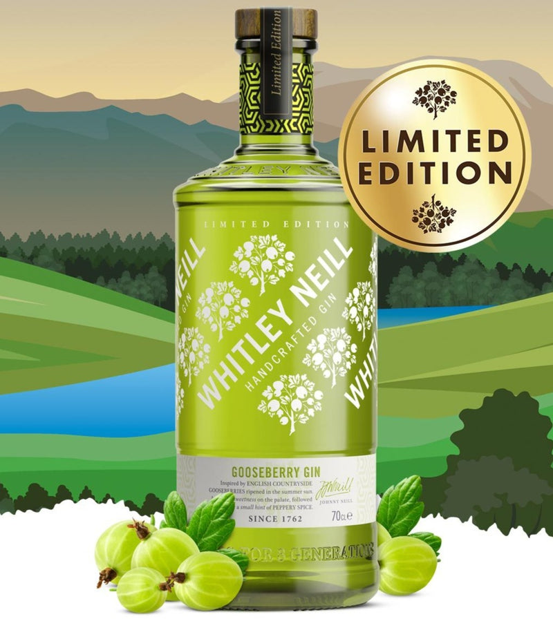 Whitley Neill  Gooseberry Gin 70cl - Drink Station UK