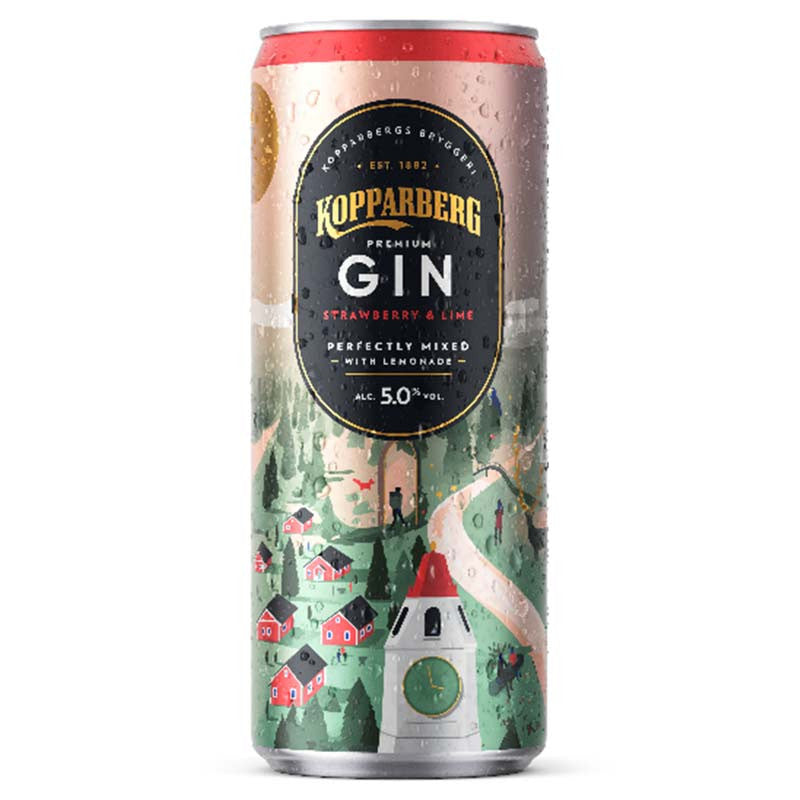 Kopparberg Gin Strawberry & Lime Can 12 x 250ml - Cheapest Drinks Online