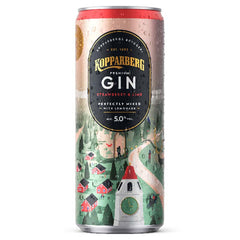 Kopparberg Gin Strawberry & Lime Can 12 x 250ml - Drink Station UK