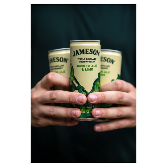 Jameson Whiskey Ginger Ale & Lime 250ml Can - Cheapest Drinks Online
