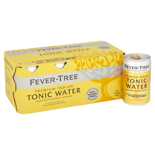 Fever Tree Indian Tonic Can 150ml x 8 Case - Cheapest Drinks Online
