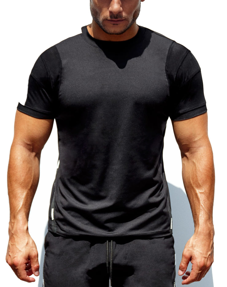 'Untrained' Athletic T-Shirt (All Black)