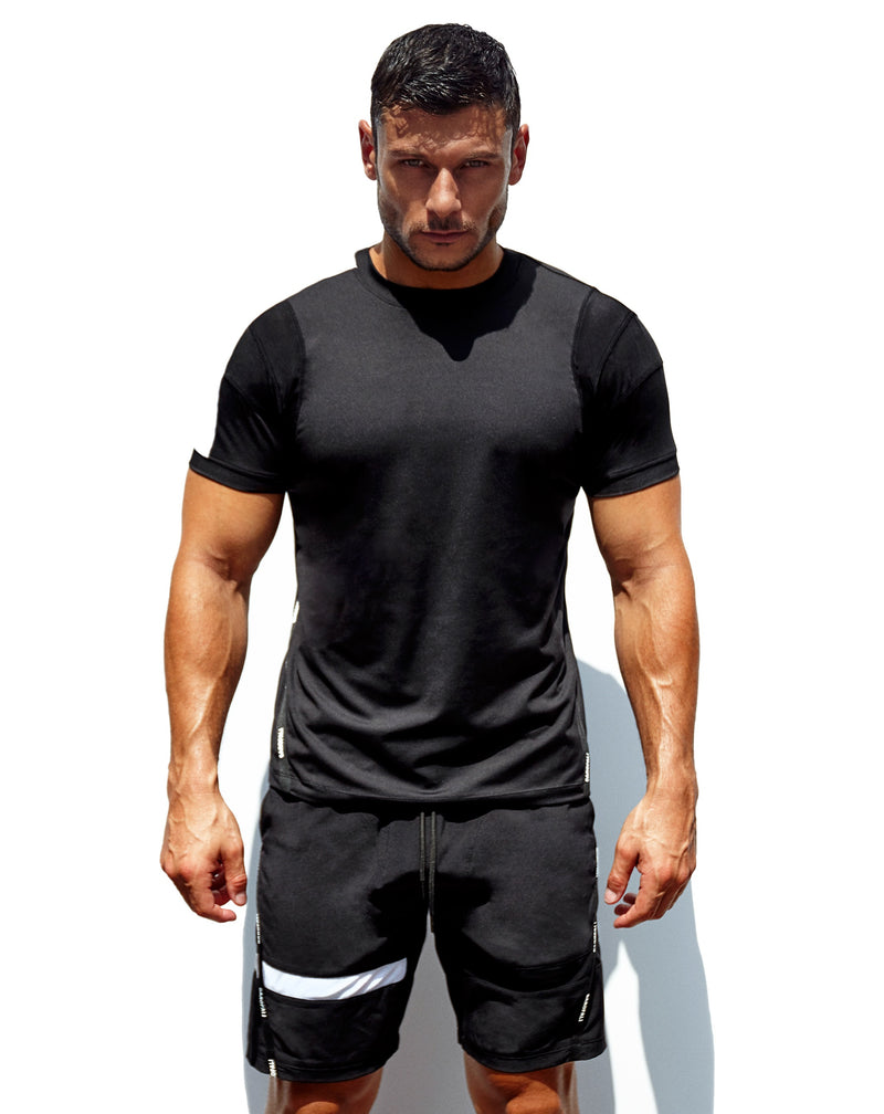 'Untrained' Athletic T-Shirt (Black/White)
