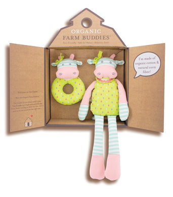 Organic Farm Buddies Gift Set - Belle The Cow
