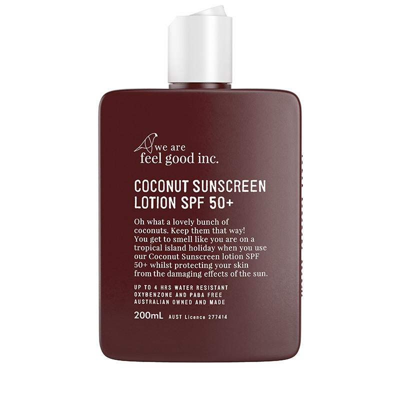 We Are Feel Good Coconut Sunscreen Lotion SPF50+