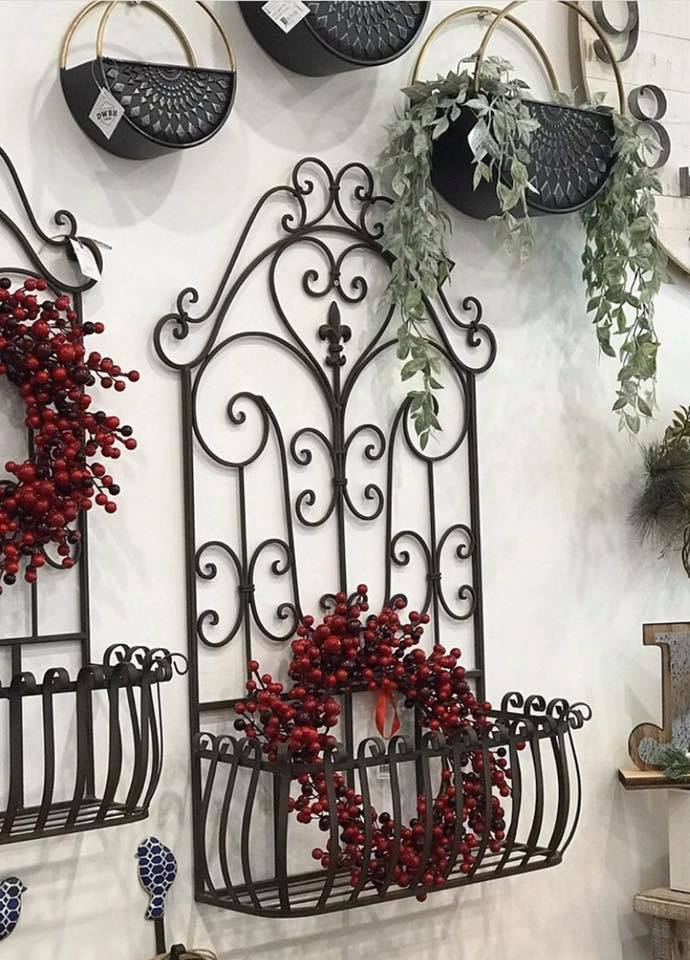 French Country Wrought Iron Wall Planters The Tribe Swan Valley
