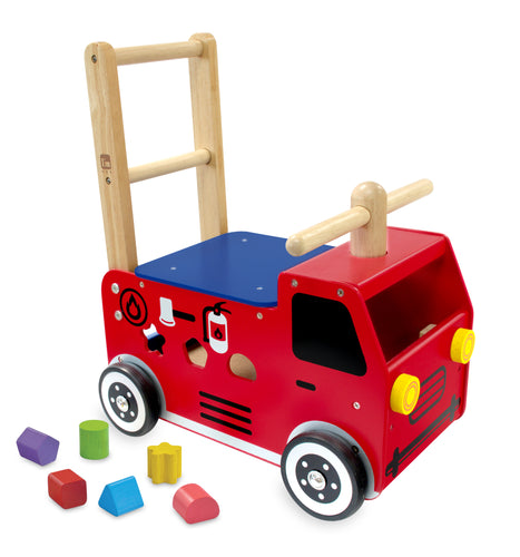 Artiwood I'm Toy Walk and Ride Fire Engine Sorter