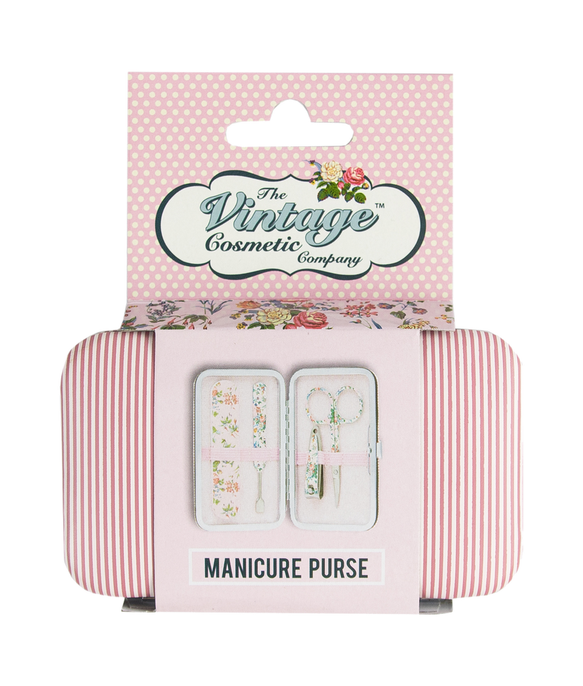 Manicure Purse Pink Stripe