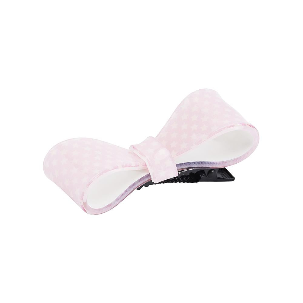 Pink & Cream Star 3D Bow Clip