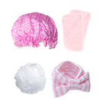 Totally Pampered Pink headband shower cap make up remover