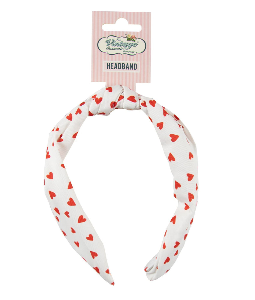 Knotted Headband Heart Print with tag